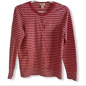 L.L. Bean striped Cardigan ladies size M
